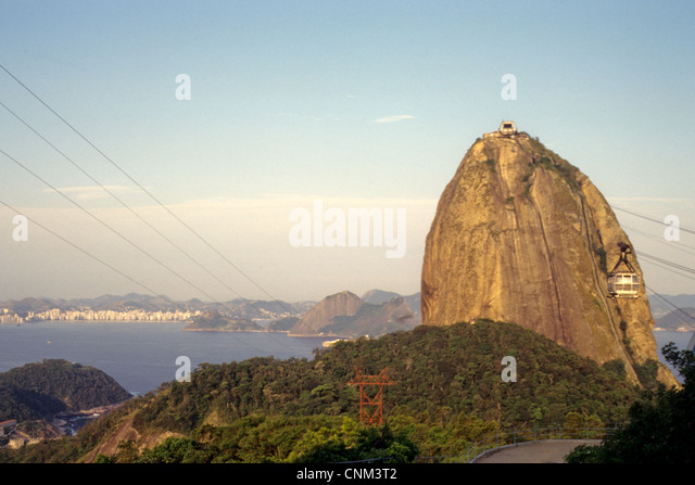 Sugarloaf Mountain Rio de Janeiro Brasil - Stock Image