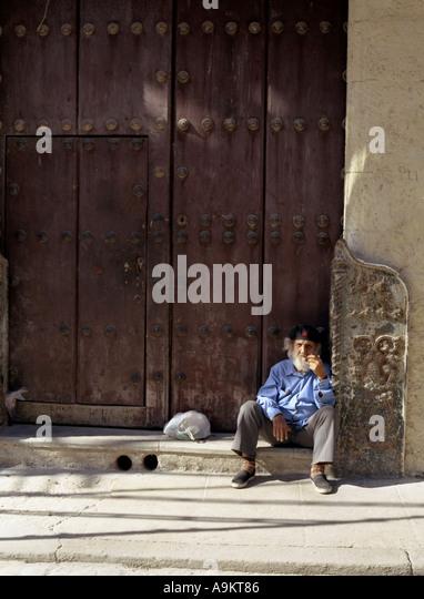 Old man in Center of Havana Cuba - Stock Image