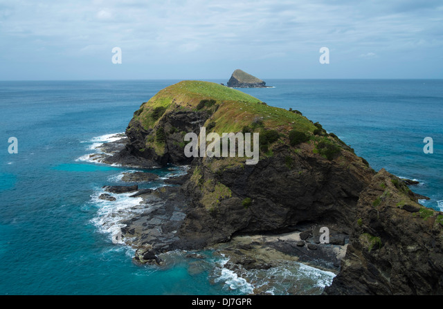 View over Mutton Bird Island, Lord Howe Island, New South Wales, Australia - Stock Image