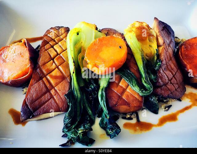 Vegetarian entree - Stock Image