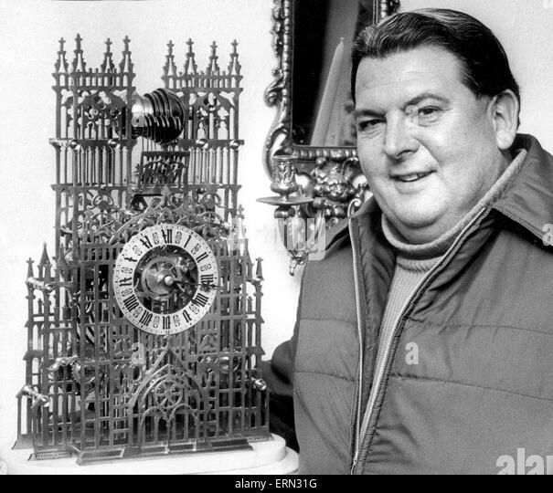 Harry Green, Binley antique dealer who runs The Barns Antiques at Binley Common Farm, 5th December 1973. - Stock Image