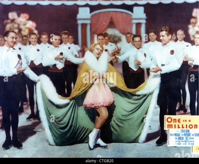 ONE IN A MILLION (1936) SONJA HENIE SIDNEY LANFIELD (DIR) 002 MOVIESTORE COLLECTION LTD - Stock Image