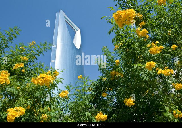 Asia Saudi Arabia Riyadh the architectural Kingdom Tower - Stock Image