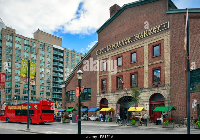 St. Lawrence Market, Toronto, Ontario, Canada - Stock Image