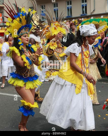 Germany Berlin Carnival of Cultures brazilian women - Stock-Bilder