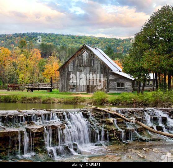 New England Autumn Barn Stock Photos & New England Autumn