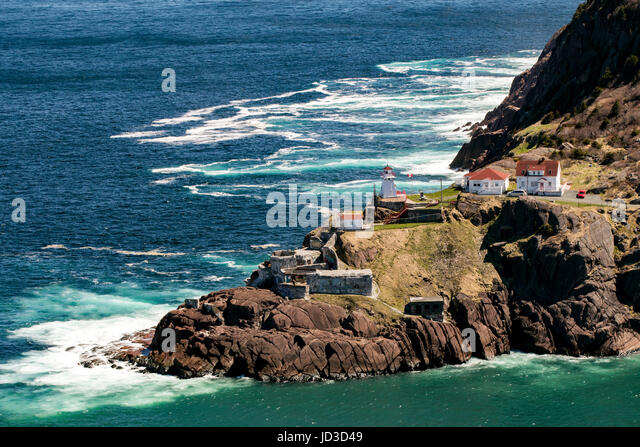 Fort Amherst Lighthouse - Fort Amherst, St. John's, Avalon Peninsula, Newfoundland, Canada - Stock Image