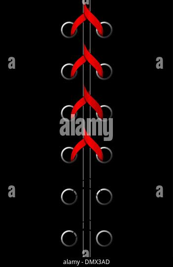 Vector illustration of red lace - Stock-Bilder