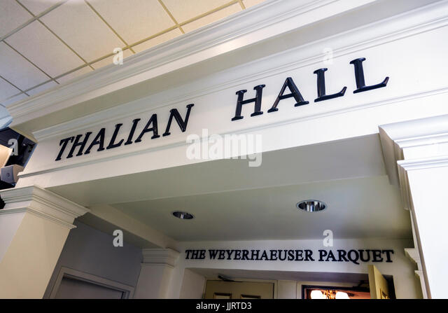 Wilmington North Carolina NC historic district Thalian Hall Center for the Performing Arts theatre theater inside - Stock Image