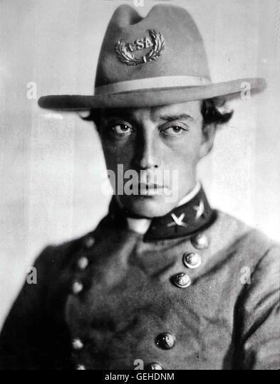 Buster Keaton   Ein Südstaaten-Eisenbahner (Buster Keaton) zieht für seine beiden grossen Lieben - ein - Stock Image
