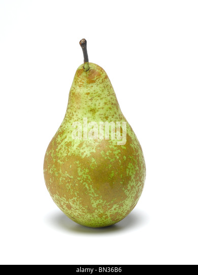 Conference Pear cut out - Stock Image
