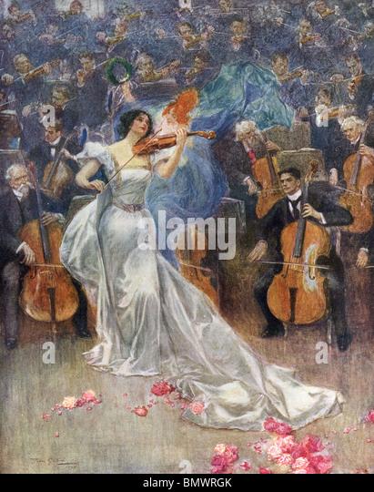 Violin Concerto - Stock Image