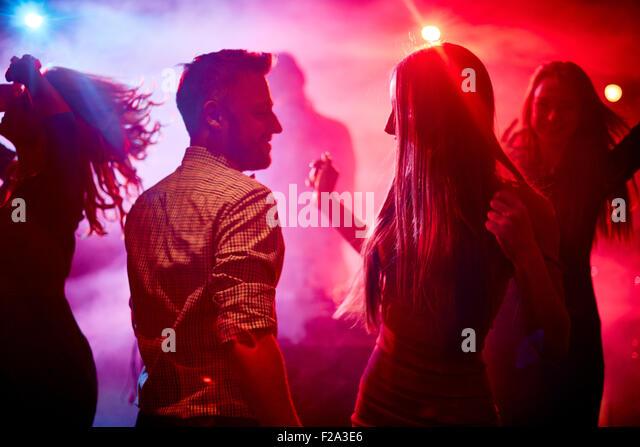 Happy dancers - Stock-Bilder
