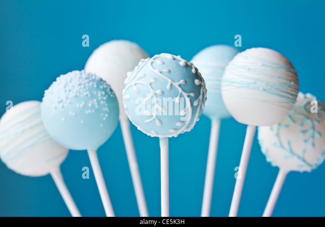 Cake pops - Stock Image