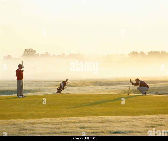 Golf morning - Stock Image