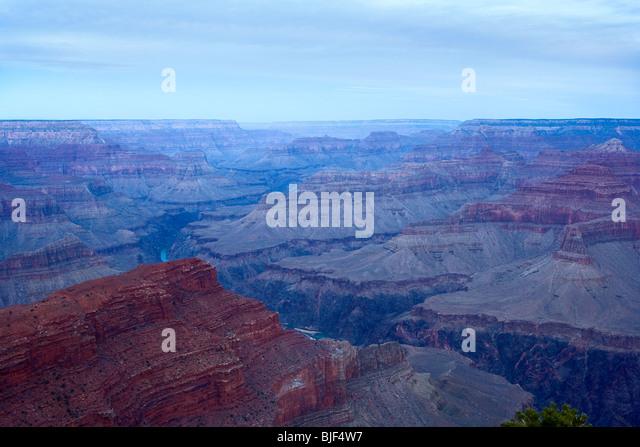 The Grand Canyon and Colorado river at dawn - Stock Image