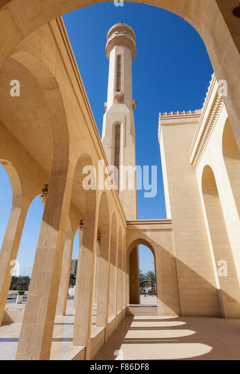 Al Fateh Grand Mosque in the city of Manama, Bahrain - Stock Image