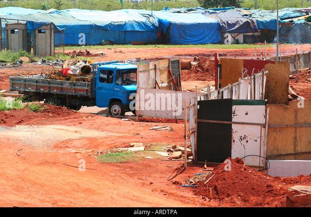 Shanty town Brasilia Brazil - Stock Image