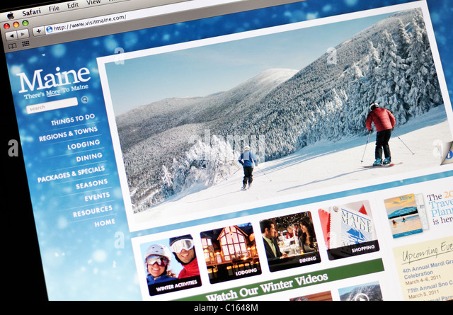Maine official state tourism website - Stock Image