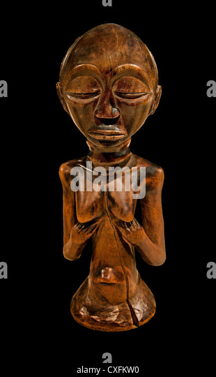 Half Figure Female 19th century Geography Democratic Republic of the Congo,Lualaba River Luba peoples 23cm Africa - Stock-Bilder