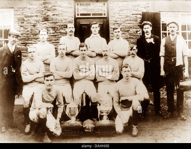Thorpe Hesley FC in 1908 - Stock Image