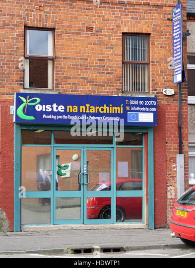 Belfast Falls Rd Republican Offender Ex-Prisoner Community Organisation - Coiste Na nIarchimi - Stock Image