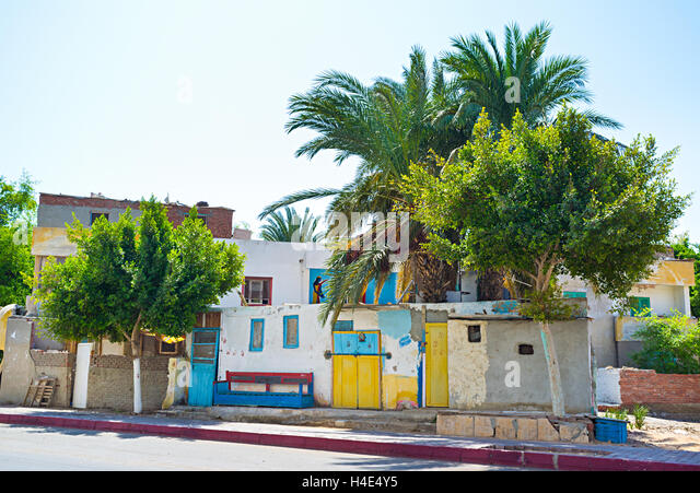 tiny house neighborhood. The Tiny House With Colorful Doors Located In Old Neighborhood Of Hurgada, Egypt.