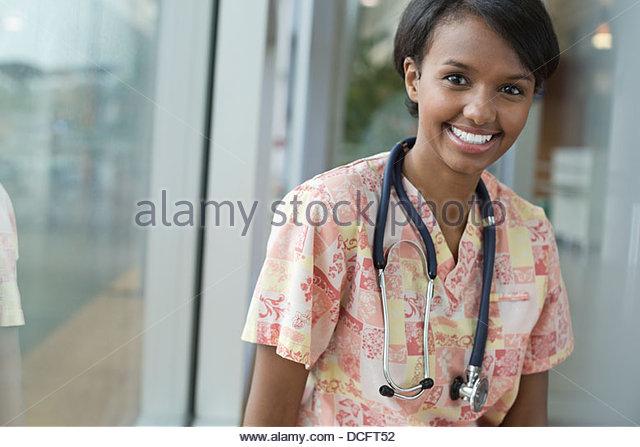 Smiling nurse - Stock Image