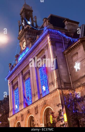 France, Paris, Mairie de XXth arrondissement (City Hall of 20th) - Stock Image