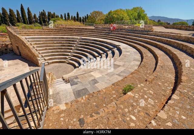 Odeon roman amphitheatre at Kos, Kos Island, Dodecanese Group, Aegean Sea, Greece - Stock Image