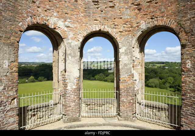 View from the Orangery over the landscape at Gibside, Newcastle upon Tyne. - Stock-Bilder