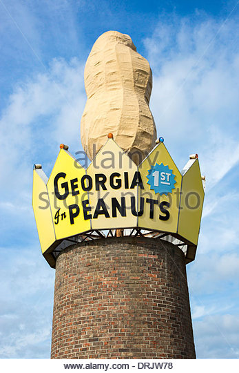 World's Largest Peanut, Ashburn, Georgia - Stock Image