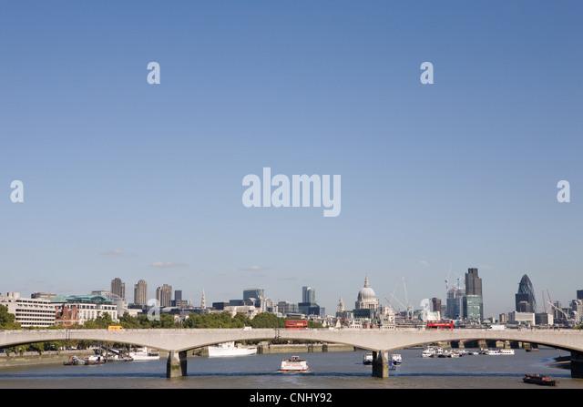 Waterloo Bridge, London, UK - Stock Image