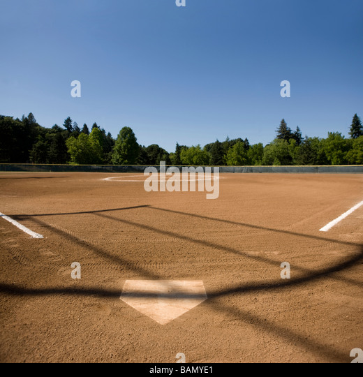 The playing field - baseball concepts - Stock Image