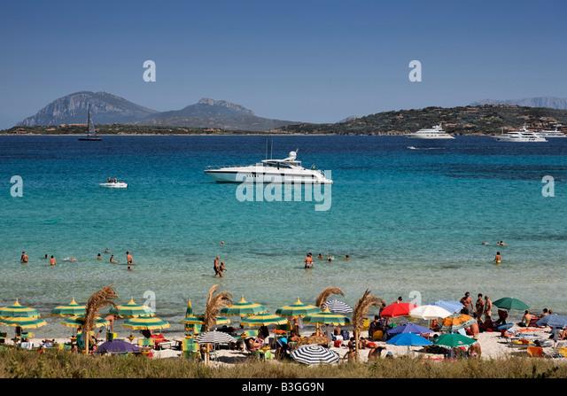 Italy Sardinia Italy Sardinia Costa Smeralda Cala Liscia Ruia beach - Stock Image
