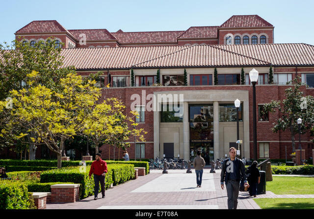 Los Angeles California CA L.A. Downtown LA USC University of Southern California campus university college higher - Stock Image
