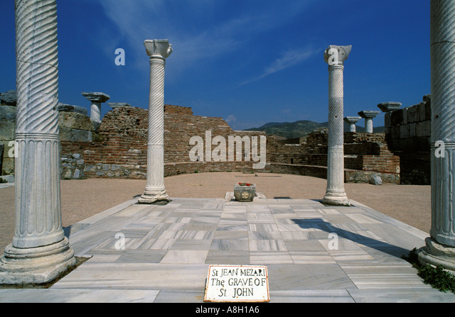 Turkey, Selcuk, Burial site of Saint John in Basilica of Saint John - Stock Image
