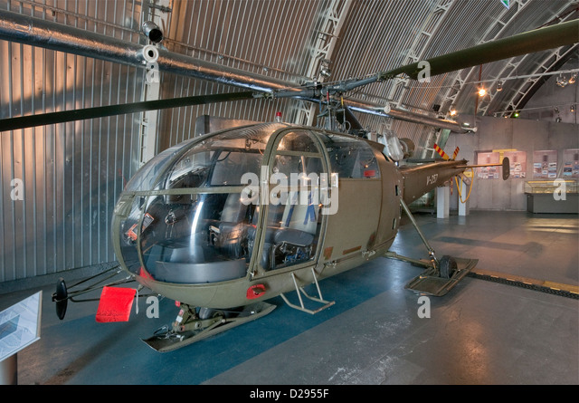 Sud-Aviation SE-3160 Alouette III multipurpose helicopter, Polish Aviation Museum in Krakow, Poland - Stock Image