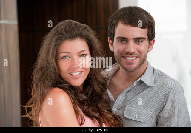 Happy young couple - Stock Image