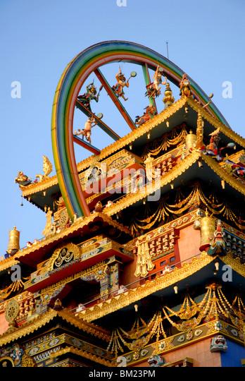 Buddhist Golden Temple, Bylakuppe, Coorg, Karnataka, India - Stock-Bilder