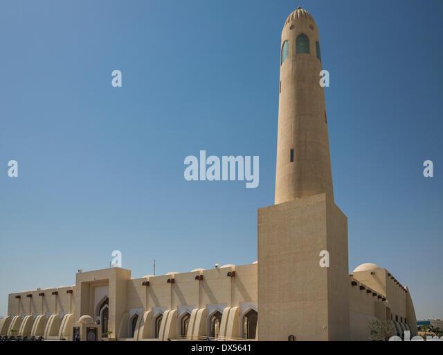 International Mosque, Doha, Qatar, United Arab Emirates - Stock Image