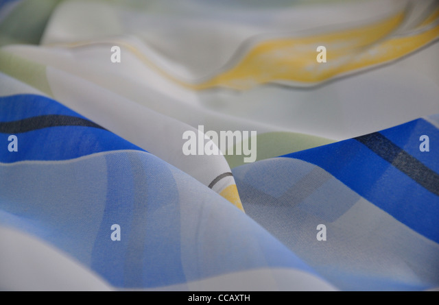 colored chiffon closeup, for background or illustration - Stock Image