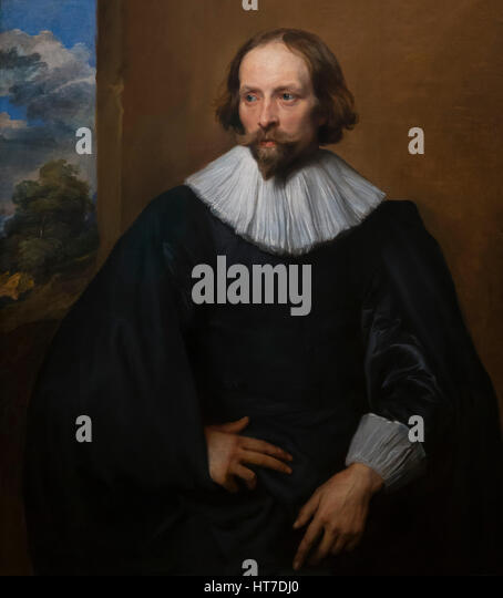 Portrait of Quintijn Symons, by Anthony van Dyck, circa 1634-5, Royal Art Gallery, Mauritshuis Museum, The Hague, - Stock Image