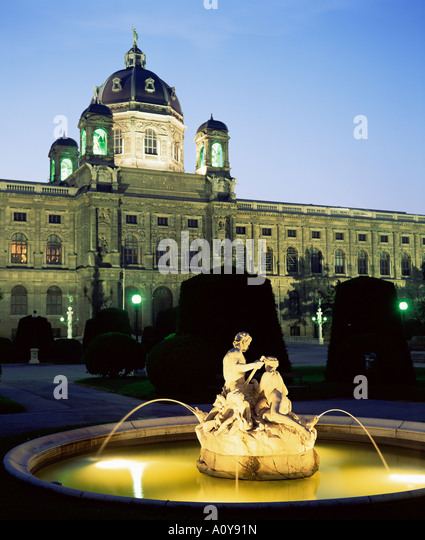 Natural History Museum Vienna Austria Europe - Stock Image