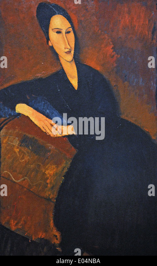 Amedeo Modigliani Anna Zborowska - Stock Image