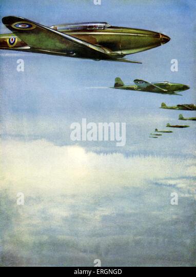 WW2 - RAF Fairey 'Battles' in formation. - Stock Image