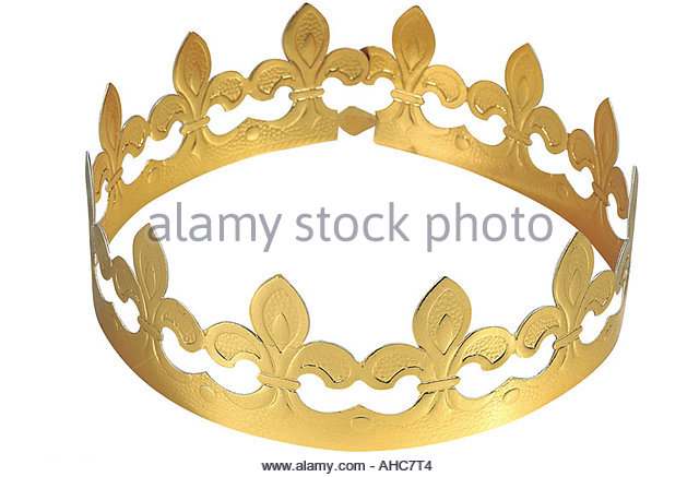 Celebrations Epiphany French traditionnal crown - Stock Image