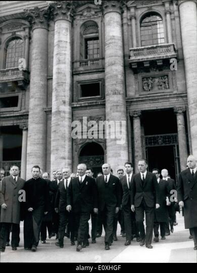 Jan. 01, 1967 - Historical Visit, Pope Paul VI met the President of the Presidium of the User Nicolai Podgorni. - Stock-Bilder