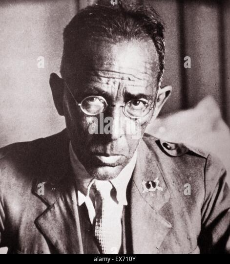 Julio Mangada Rosenorn 1877 - 1946, a prominent military commander during the Republic and the Spanish Civil War. - Stock Image