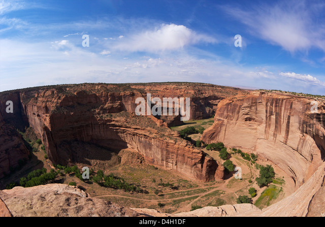 Divide between Canyon del Muerto & Black Rock Canyon, Antelope House Overlook, Canyon de Chelly National Monument, - Stock Image
